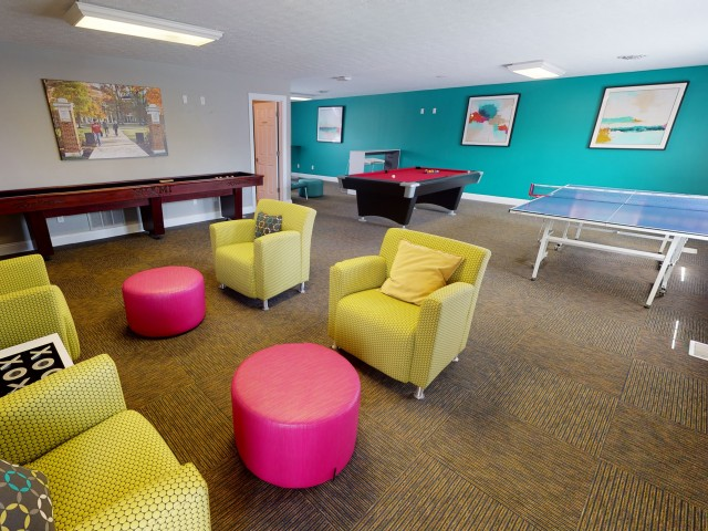 Resident Game Room   The Commons   Student Apartments In Oxford OH