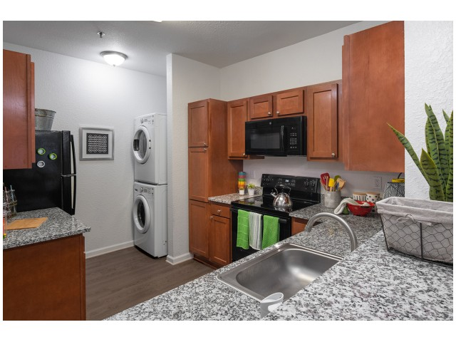 Granite Countertops | Spacious Kitchen | Flatts at South Campus | Student Housing Oxford MS