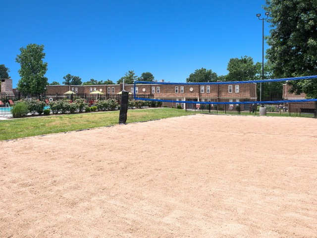 Outdoor Sand Volleyball Court | University Village | SIU Off Campus Housing