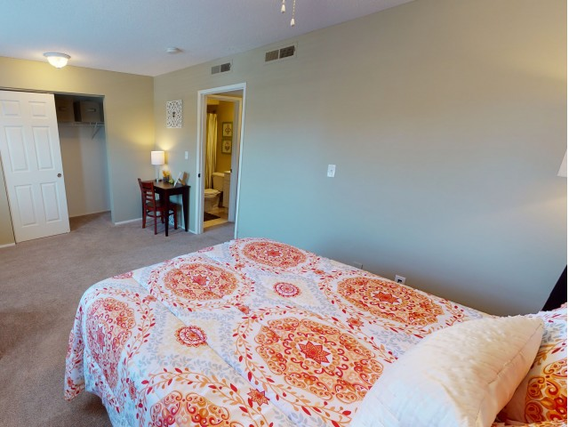 Carpeted Bedroom | University Village | Apartments In Carbondale IL