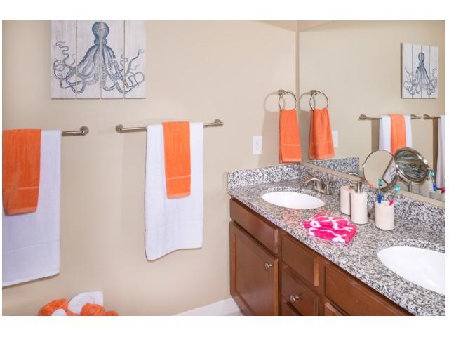 Double Vanity in Bathrooms | Hawks Landing | Oxford Ohio Student Rentals