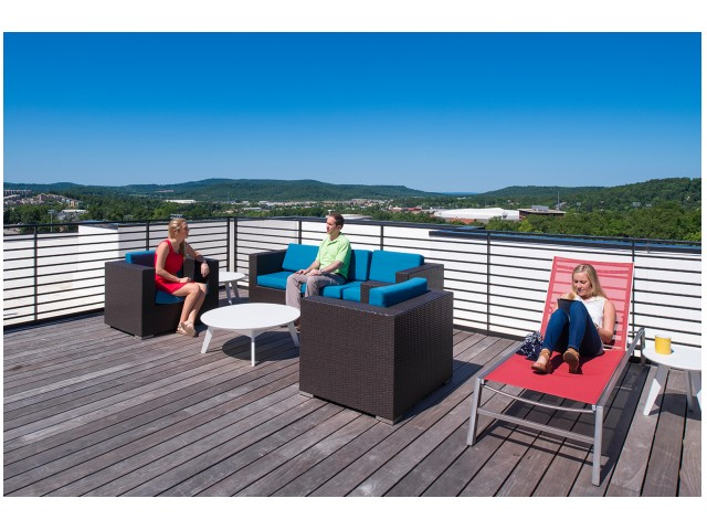 Rooftop | The Cardinal at West Center | U of A Apartments Fayetteville AR