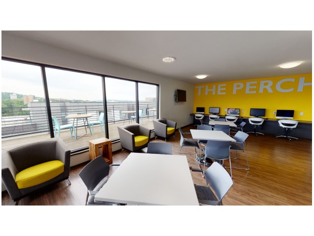 The Perch | Community Space | The Cardinal at West Center | U of A Apartments Fayetteville AR