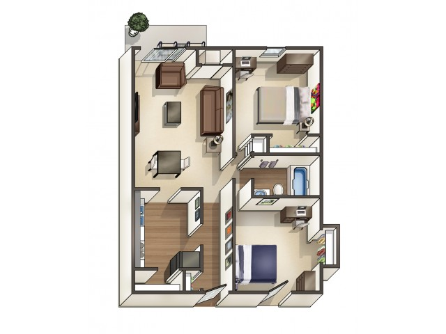 B1 floor plan | University Apartments Durham | Apartments Near Duke University