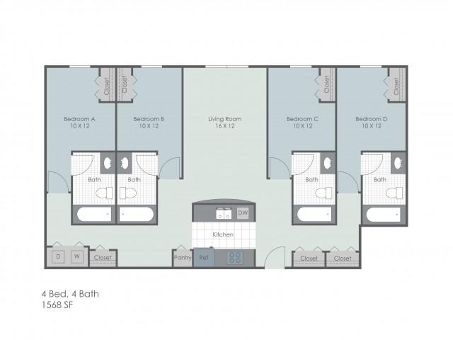 4x4 Bedroom   22 Exchange   Apartments Near University Of Akron
