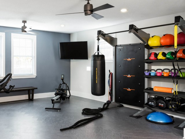 Expanded fitness center at The Flatts Salisbury | Apartments In Salisbury, MD.