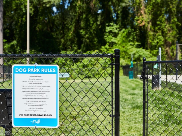 Expanded Dog Play Area at The Flatts Salisbury | Apartments Near Salisbury University.