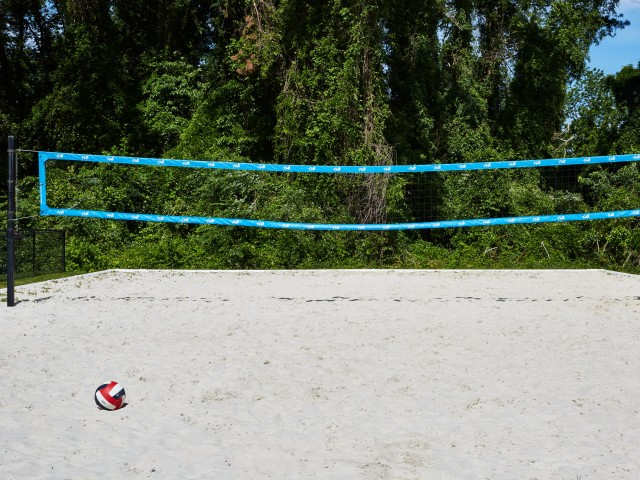 Beach Volleyball Court at The Flatts Salisbury | Student Housing Salisbury, MD.