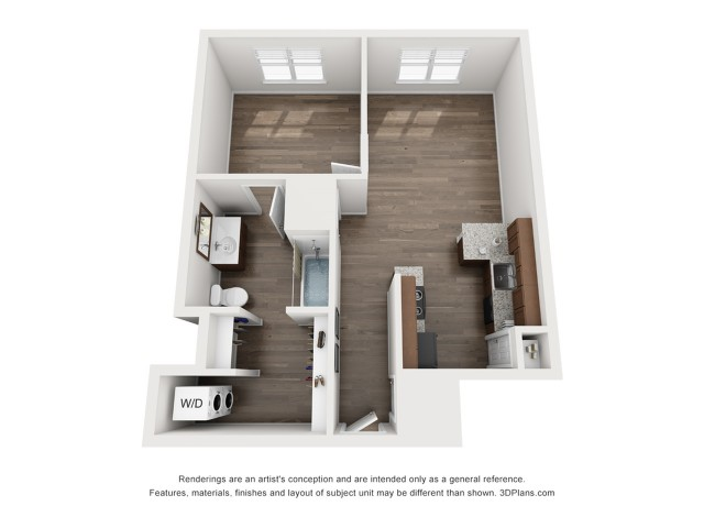 A4 Floor Plan Unfurnished
