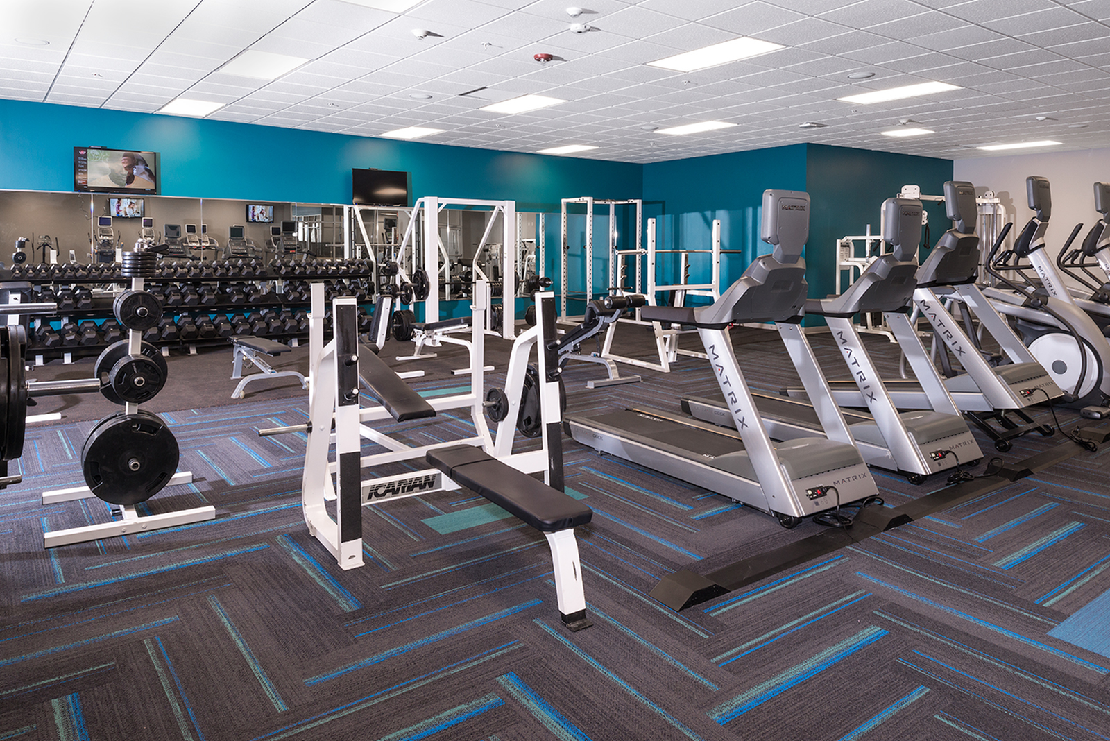 Resident Fitness Center | University Plaza  | Northern Illinois University Apartments