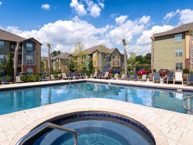 Resort Style Pool | Eagle Flatts | Student Apartments In Hattiesburg MS