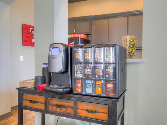 Resident Coffee Bar | Raiders Walk | Apartments Lubbock TX