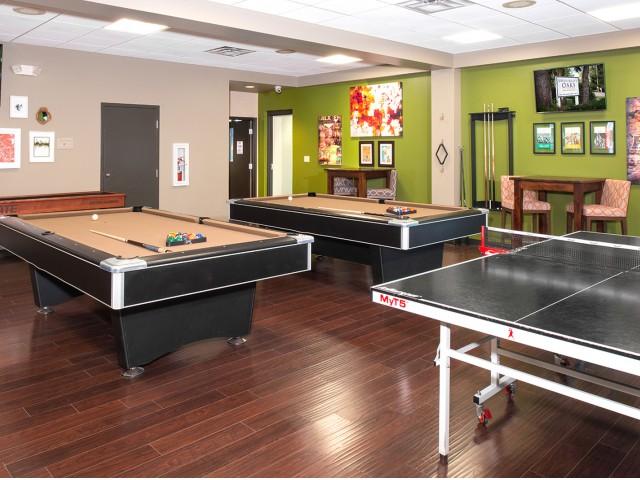 Resident Game Room | University Oaks | Kent State Apartments