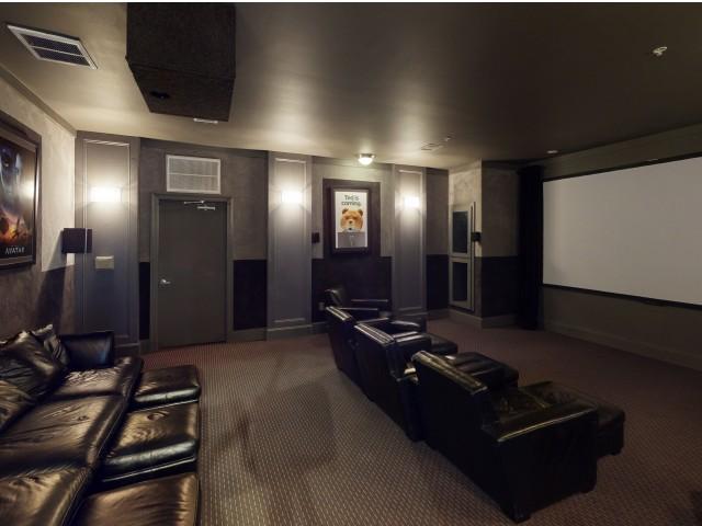 Community Theatre Room | The Quarters | Student Housing In Lafayette LA