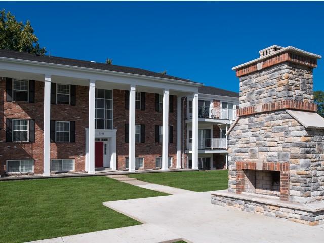 Outdoor Fireplace | University Hills | Apartments Near University Of Toledo