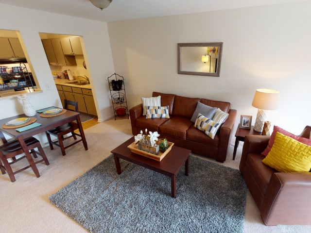 Furniture Packages Available | Living Room | University Hills | Apartments Near University Of Toledo