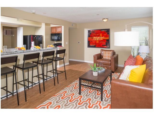 Wood-style Flooring in Common Area | Hawks Landing | Oxford Ohio Apartments