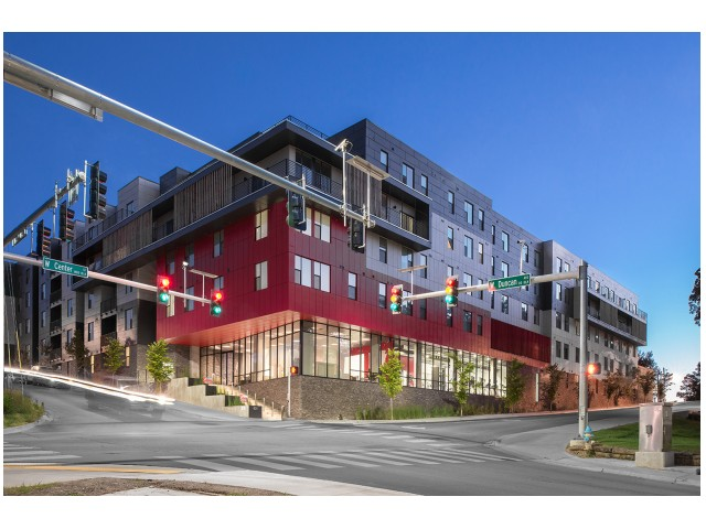 Dickson Street View | The Cardinal at West Center | Apartments near University Of Arkansas