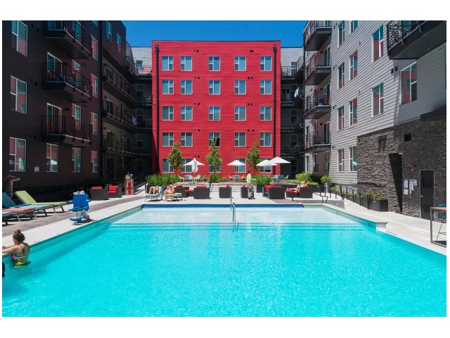 Swimming Pool | The Cardinal at West Center | Fayetteville AR Apartments