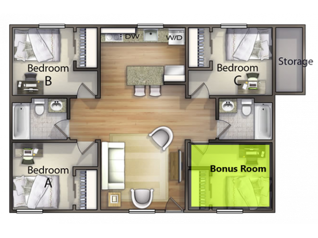 3 Bedroom With Bonus Room