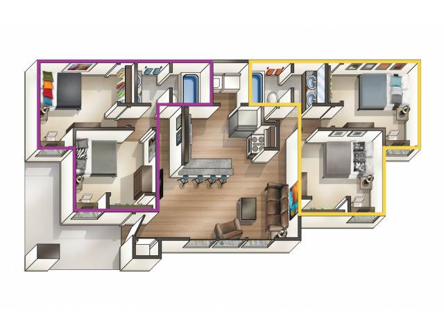 2 Bedroom Apartment with 2 Bonus Rooms