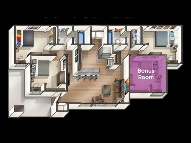 3 Bedroom with Extra Bonus Room