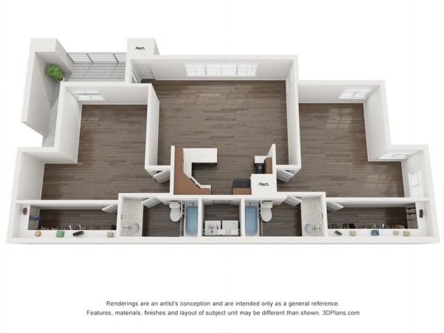 B5UF Deluxe 2 Bedroom | The Preserve at Tuscaloosa | Apartments Near University of Alabama