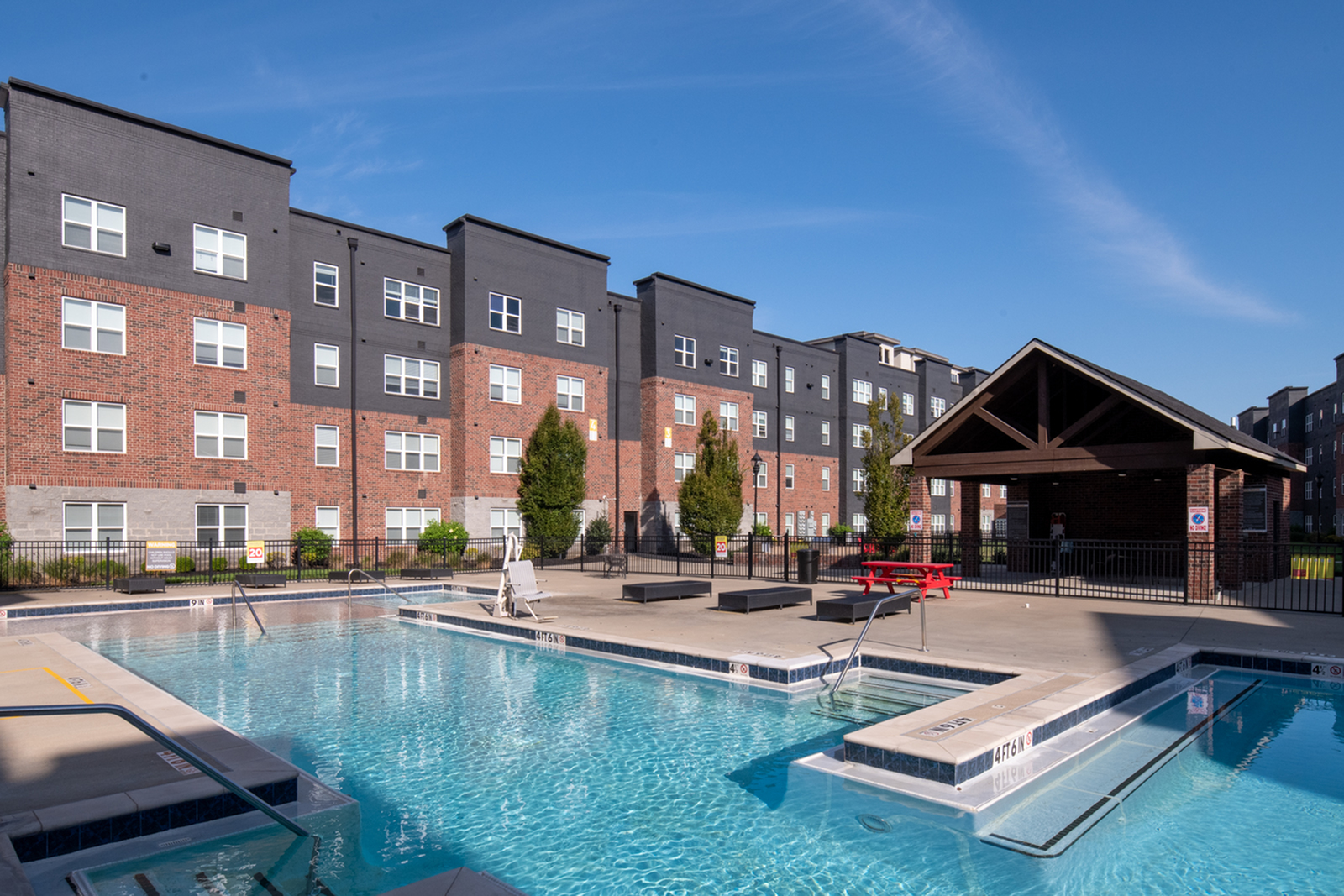 Pool at Trifecta Apartments in Louisville Ky