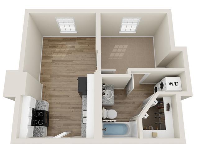 A1 1 Bedroom Floor Plan    Landmark Apartments   Apartments In Murfreesboro TN
