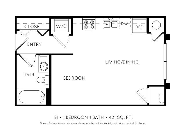 E1 Efficiency Floorplan