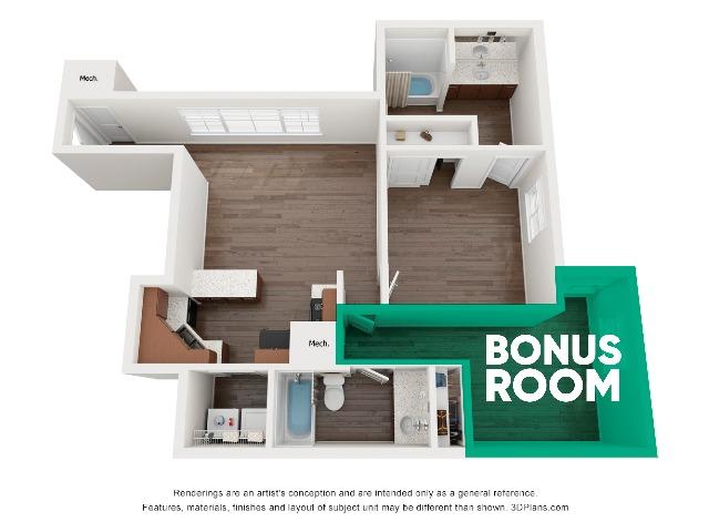 A4UF Super 1 Bedroom With Bonus Room