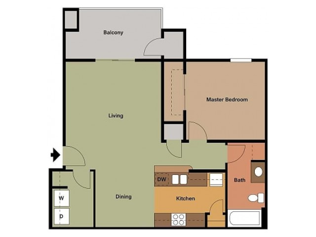 1 Bedroom, 1 Bathroom Embassy Ozark