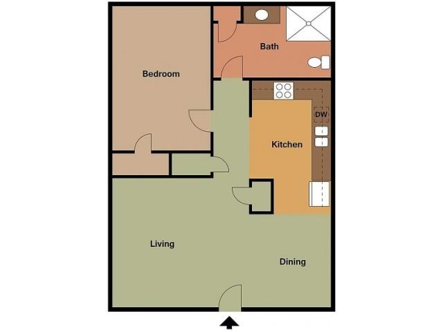 Lombard 1 bedroom D