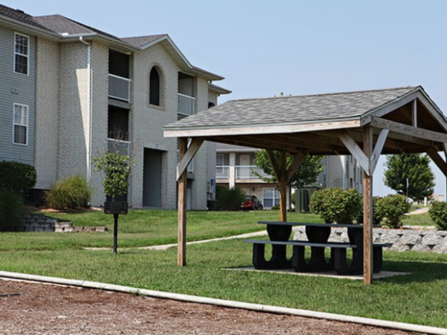 Covered Picnic Area Lakewood Village Apartments
