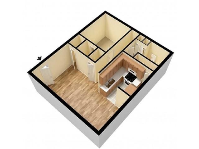 Quail Ridge 1 Bedroom Floor plan