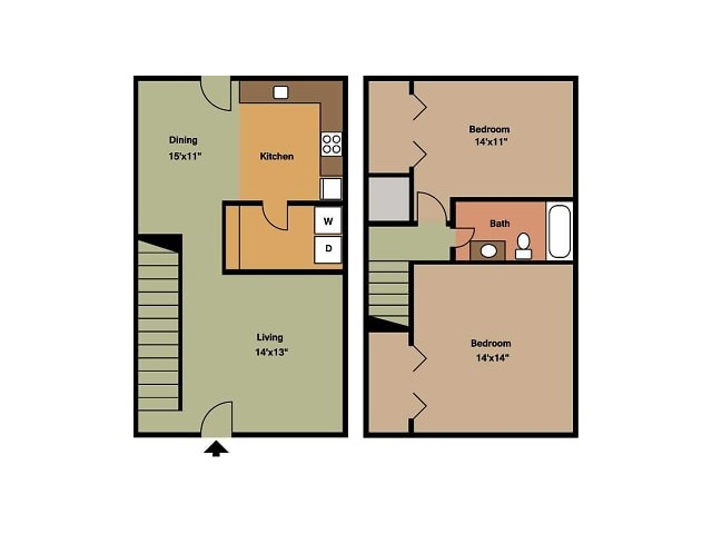 Southwinds East 2 bedroom townhome