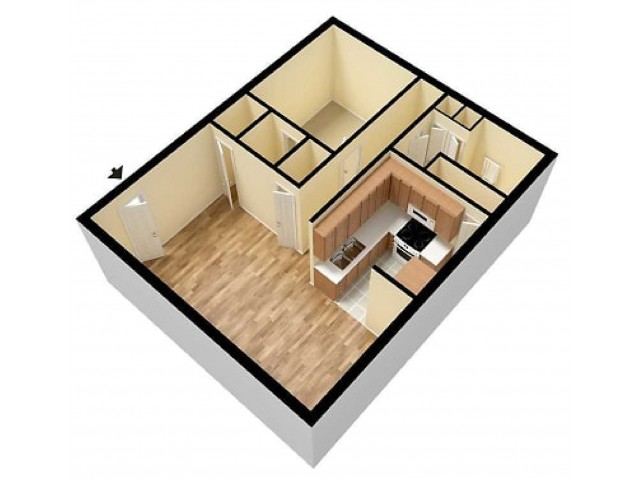 Concord 1 Bedroom 3D