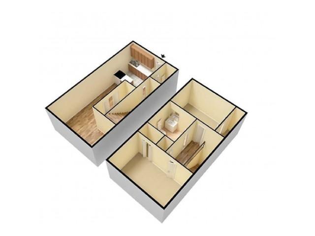 2Bed Townhome Quail Ridge 3D