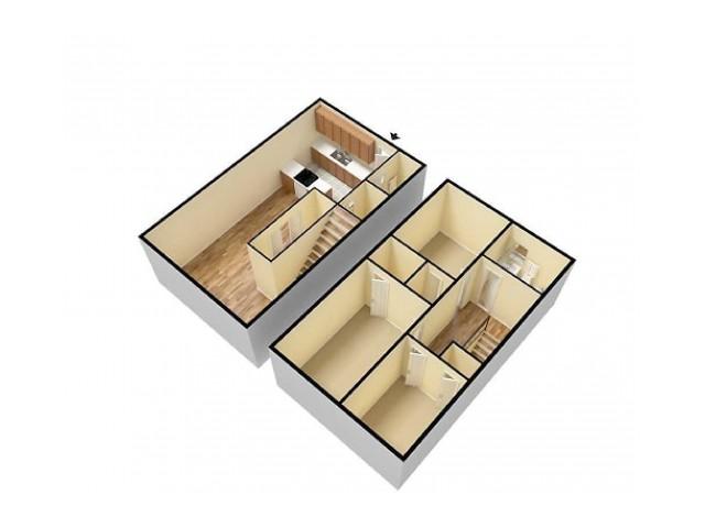 3Bed Townhome Quail Ridge 3D