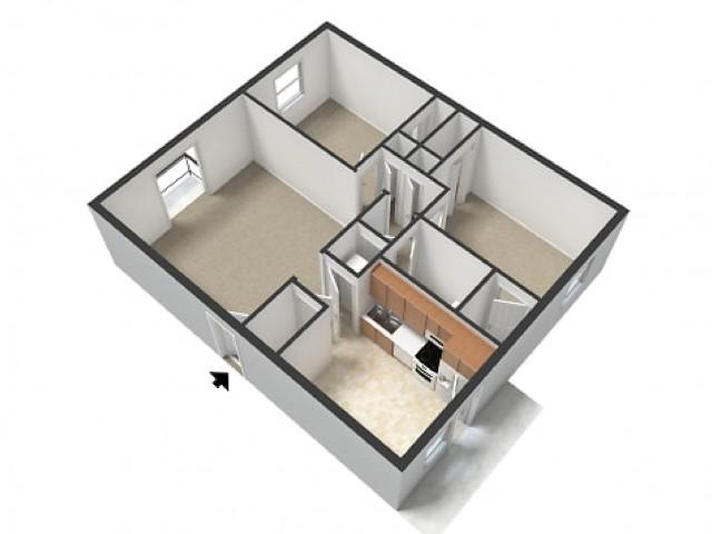 Harvard 2 bedroom 1.5 bathroom