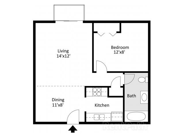 Timbers 1 Bedroom, 2D