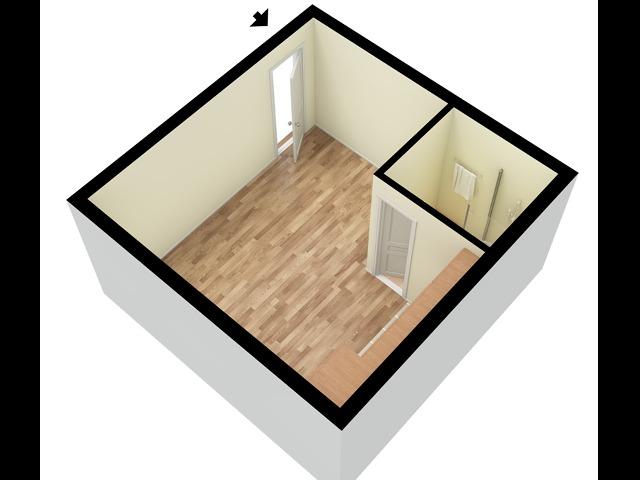 Concord Studio 3D Floor Plan