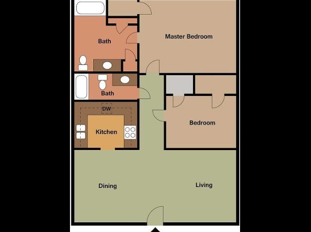 Stoneridge 2 bedroom, 2 bathroom