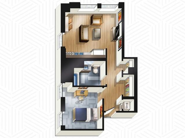 1x1. Floors 22-25