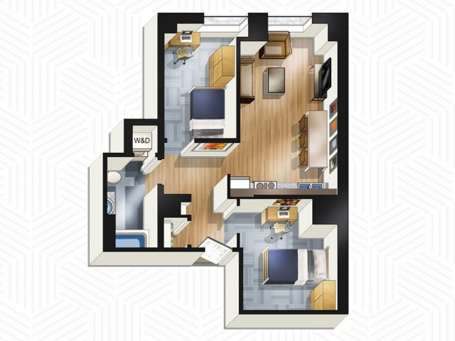 2x1. Floors 19-21