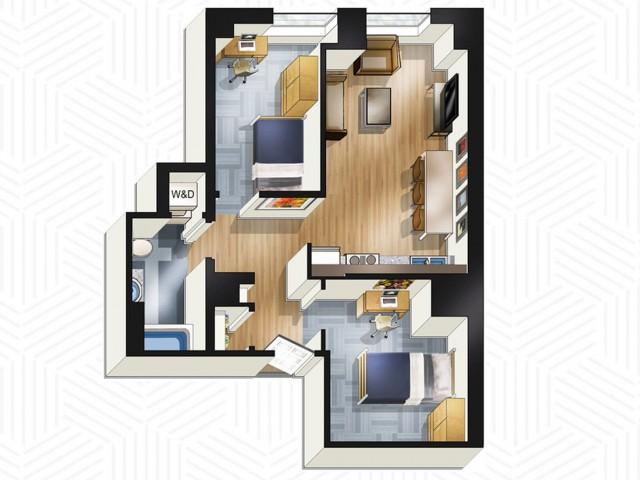 2x1. Floors 22-25