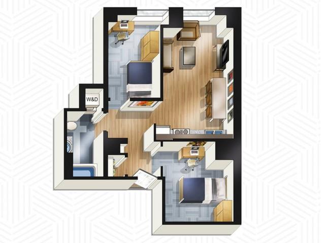 2x1. Floors 26