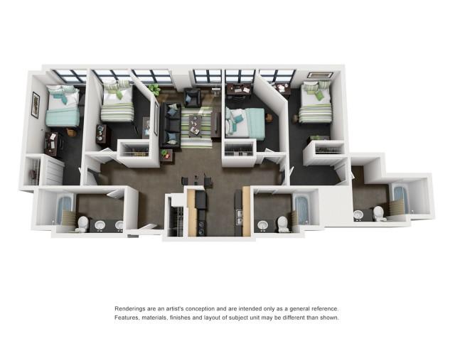 Adams 3D Floorplan