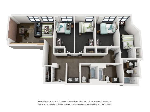Harrison 3D Floorplan