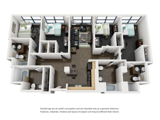 Jefferson 3D Floorplan